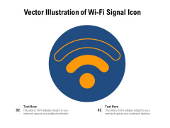 Vector Illustration Of Wi-Fi Signal Icon Ppt PowerPoint Presentation Outline Themes PDF