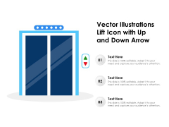 Vector Illustrations Lift Icon With Up And Down Arrow Ppt PowerPoint Presentation File Graphics Example PDF