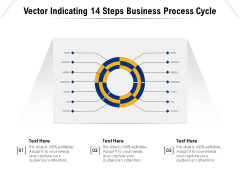Vector Indicating 14 Steps Business Process Cycle Ppt PowerPoint Presentation Gallery Background Images PDF