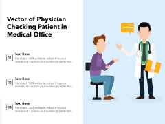 Vector Of Physician Checking Patient In Medical Office Ppt PowerPoint Presentation Styles PDF