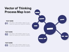 Vector Of Thinking Process Map Icon Ppt PowerPoint Presentation Outline Format PDF