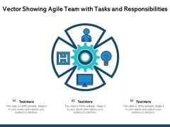 Vector Showing Agile Team With Tasks And Responsibilities Ppt PowerPoint Presentation Templates PDF