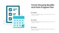 Vector Showing Benefits And Perks Program Plan Ppt Pictures Structure PDF