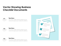 Vector Showing Business Checklist Documents Ppt PowerPoint Presentation Infographic Template Smartart PDF