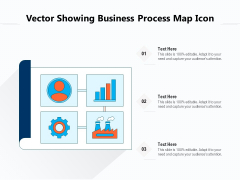 Vector Showing Business Process Map Icon Ppt PowerPoint Presentation Infographics Introduction PDF
