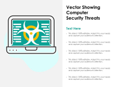 Vector Showing Computer Security Threats Ppt PowerPoint Presentation Ideas Introduction PDF