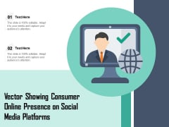 Vector Showing Consumer Online Presence On Social Media Platforms Ppt PowerPoint Presentation Ideas Clipart Images PDF