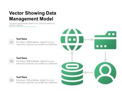 Vector Showing Data Management Model Ppt PowerPoint Presentation Inspiration Infographics PDF