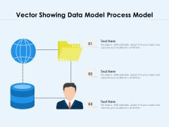 Vector Showing Data Model Process Model Ppt PowerPoint Presentation File Background PDF