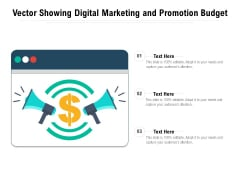 Vector Showing Digital Marketing And Promotion Budget Ppt PowerPoint Presentation Show Vector PDF