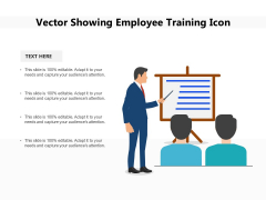 Vector Showing Employee Training Icon Ppt PowerPoint Presentation Model Rules PDF