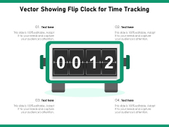 Vector Showing Flip Clock For Time Tracking Ppt PowerPoint Presentation Gallery Background PDF