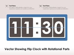 Vector Showing Flip Clock With Rotational Parts Ppt PowerPoint Presentation File Summary PDF