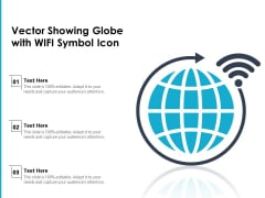 Vector Showing Globe With WIFI Symbol Icon Ppt PowerPoint Presentation Gallery Graphics Template PDF