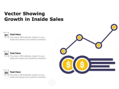 Vector Showing Growth In Inside Sales Ppt PowerPoint Presentation Gallery Topics PDF