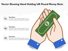 Vector Showing Hand Holding UK Pound Money Note Ppt PowerPoint Presentation Infographics Rules PDF