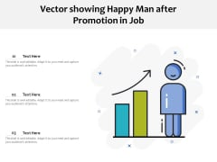 Vector Showing Happy Man After Promotion In Job Ppt PowerPoint Presentation File Background Image PDF