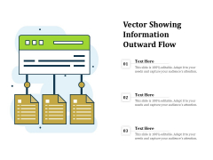 Vector Showing Information Outward Flow Ppt PowerPoint Presentation Infographic Template Layout PDF