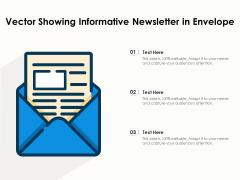 Vector Showing Informative Newsletter In Envelope Ppt PowerPoint Presentation Gallery Brochure PDF