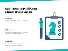 Vector Showing Integrated Planning To Support Strategic Decisions Ppt PowerPoint Presentation Gallery Outline PDF