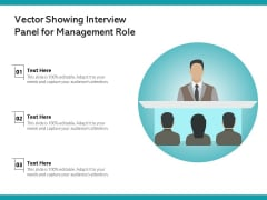 Vector Showing Interview Panel For Management Role Ppt PowerPoint Presentation Icon Gallery PDF