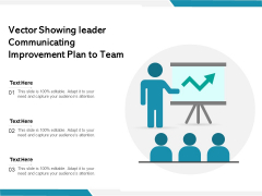 Vector Showing Leader Communicating Improvement Plan To Team Ppt PowerPoint Presentation Outline Diagrams PDF