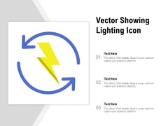 Vector Showing Lighting Icon Ppt Infographic Template Inspiration PDF