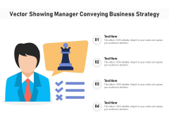 Vector Showing Manager Conveying Business Strategy Ppt PowerPoint Presentation Icon Portfolio PDF