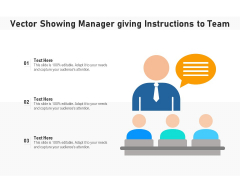 Vector Showing Manager Giving Instructions To Team Ppt PowerPoint Presentation File Grid PDF