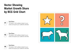 Vector Showing Market Growth Share By BCG Grid Chart Ppt PowerPoint Presentation Gallery Graphic Images PDF