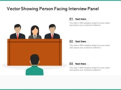 Vector Showing Person Facing Interview Panel Ppt PowerPoint Presentation Pictures Slides PDF