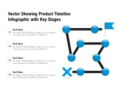 Vector Showing Product Timeline Infographic With Key Stages Ppt PowerPoint Presentation Gallery Inspiration PDF