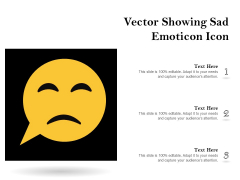 Vector Showing Sad Emoticon Icon Ppt PowerPoint Presentation Inspiration PDF