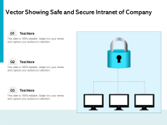 Vector Showing Safe And Secure Intranet Of Company Ppt PowerPoint Presentation Summary Icons PDF