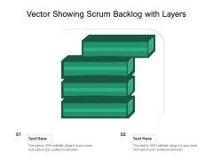 Vector Showing Scrum Backlog With Layers Ppt PowerPoint Presentation Outline Pictures PDF