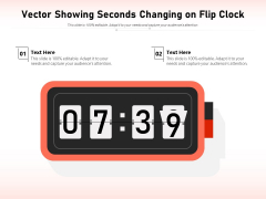 Vector Showing Seconds Changing On Flip Clock Ppt PowerPoint Presentation File Inspiration PDF