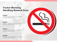 Vector Showing Smoking Banned Zone Ppt PowerPoint Presentation Infographics Designs Download PDF