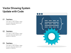Vector Showing System Update With Code Ppt PowerPoint Presentation File Introduction PDF