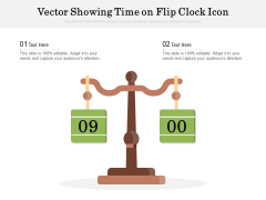 Vector Showing Time On Flip Clock Icon Ppt PowerPoint Presentation Gallery Show PDF
