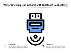 Vector Showing USB Adaptor With Bluetooth Connectivity Ppt PowerPoint Presentation Styles Design Ideas PDF