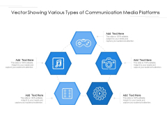 Vector Showing Various Types Of Communication Media Platforms Ppt PowerPoint Presentation Gallery Picture PDF