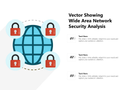 Vector Showing Wide Area Network Security Analysis Ppt PowerPoint Presentation Summary Templates PDF