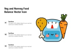 Veg And Nonveg Food Balance Vector Icon Ppt PowerPoint Presentation File Guide PDF