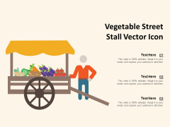 Vegetable Street Stall Vector Icon Ppt PowerPoint Presentation Gallery Clipart Images PDF