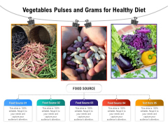 Vegetables Pulses And Grams For Healthy Diet Ppt PowerPoint Presentation Professional Visuals PDF