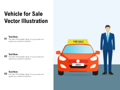 Vehicle For Sale Vector Illustration Ppt PowerPoint Presentation Pictures Elements