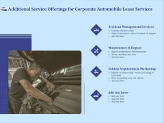 Vehicle Leasing Additional Service Offerings For Corporate Automobile Lease Services Graphics PDF