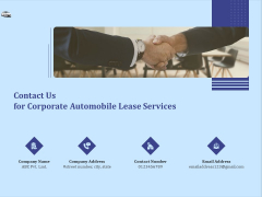 Vehicle Leasing Contact Us For Corporate Automobile Lease Services Download PDF