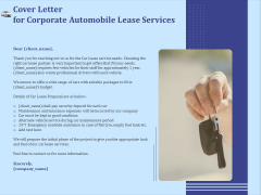 Vehicle Leasing Cover Letter For Corporate Automobile Lease Services Summary PDF