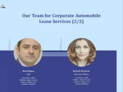 Vehicle Leasing Our Team For Corporate Automobile Lease Services Pictures PDF